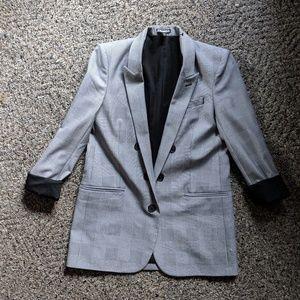 Express Checkered Blazer